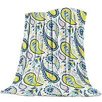 毛布 ペスリ インド 花柄 レトロ 伝統的 ブランケット エアコン対策 敷き毛布 フランネル シングル 暖かい 掛け毛布 洗える 柔らかい ふわふわ 軽い掛け布団 発熱効果 マイクロファイバー 150×200cm
