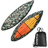 GYMTOP 7.8-18ft Waterproof Kayak Canoe Cover Camouflage - Outdoor Storage Dust Cover UV Protection Sunblock Shield for Fishin