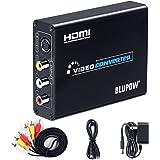 BLUPOW コンポジット/S端子 to HDMI 変換器 1080P対応 Composite 3RCA AV/S-Video to HDMI コンバーター ビデオ変換器 コンポジット hdmi 変換 アナログ デジタル 変換器 rca hdmi 変