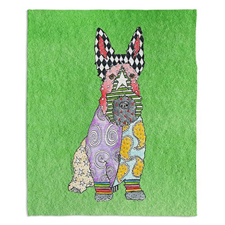 ブランケットウルトラソフトFuzzy 4サイズホーム装飾寝室ソファスローブランケットダイアノウチェ?デザインズ – Artist Marley Ungaro – Scottish Terrierグリーン Toddler 40