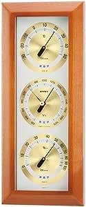 EMPEX(エンペックス) アトモス気象計 温度表示 湿度表示 気圧表示 シルバー/ブラウンBM-727
