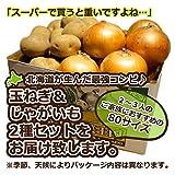 北海道産 玉ねぎ&ニセコ産じゃがいも 詰め合わせ5kg 2Lのたまねぎ&じゃがいもは男爵、北あかりなど 80サイズ梱包