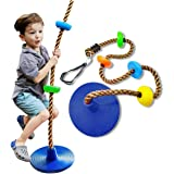 Tree Swing with Platforms and Disc Swings Seat Climbing Rope Outdoor Playground Swingset Accessories Outdoor for Kids Trees H