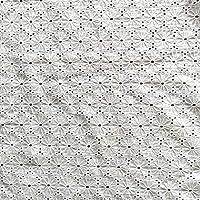 生地レース白かわいい綿コットン雛菊デージーレース生地刺繍花柄手芸パッチワーク衣装アクセサリー 巾130CM長さ1M B15027WHITE