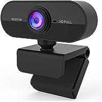 HD 1080P ウェブカメラ, 200万画素 超広90°画角マイク内蔵 Webカメラ 自動光補正 USB接続 skyp…
