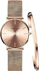 レディース 腕時計 Hannah Martin おしゃれ クラシック シンプル 女性 時計 ビジネス 日本製クオーツ バングル ブレスレット watch for women