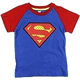 Superman Little Boys' Toddler Diamond Plate Logo Tee