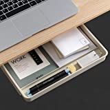 Airtaxiing Under Desk Drawer Organizer - Large Grey Under Table Hidden Drawer Desktop Storage Pen Pencil Slide Out Pull Out O