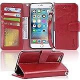 iPhone6s Plus ケース 手帳型 iPhone6 Plus ケース Arae スマホケース 横置き機能 カードポケット付き アイフォン6s 6 プラス 対応用 財布型 ケース カバー(ワインレッド)
