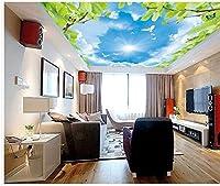 Wapel 3 d 壁画ハトスカイクラウドの天井の壁紙の 3 次元立体天井ホームデコレーション不織ロール 絹の布 250x175CM
