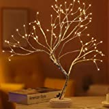 """Yiliaw 20"""" Tabletop Bonsai Tree Light with 108 LED Copper Wire String Lights, Touch Switch,DIY Artificial Tree Lamp,USB or Ba"""