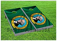 CornholeボードBeanbag Toss Game Wバッグ米国の状態ワシントンシールフラグset238