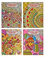 セットの2Assorted大人用カラーリングブック( 23ページ各)–花幾何Grown Up Meditative Coloring Books Assorted 2pk 6008