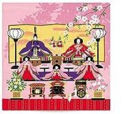 「有職」歳時記小ふろしき 季節のデザイン タペストリー (furoshiki4-2)