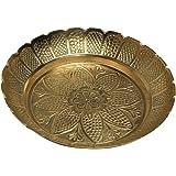 Metal Pooja Plate Small