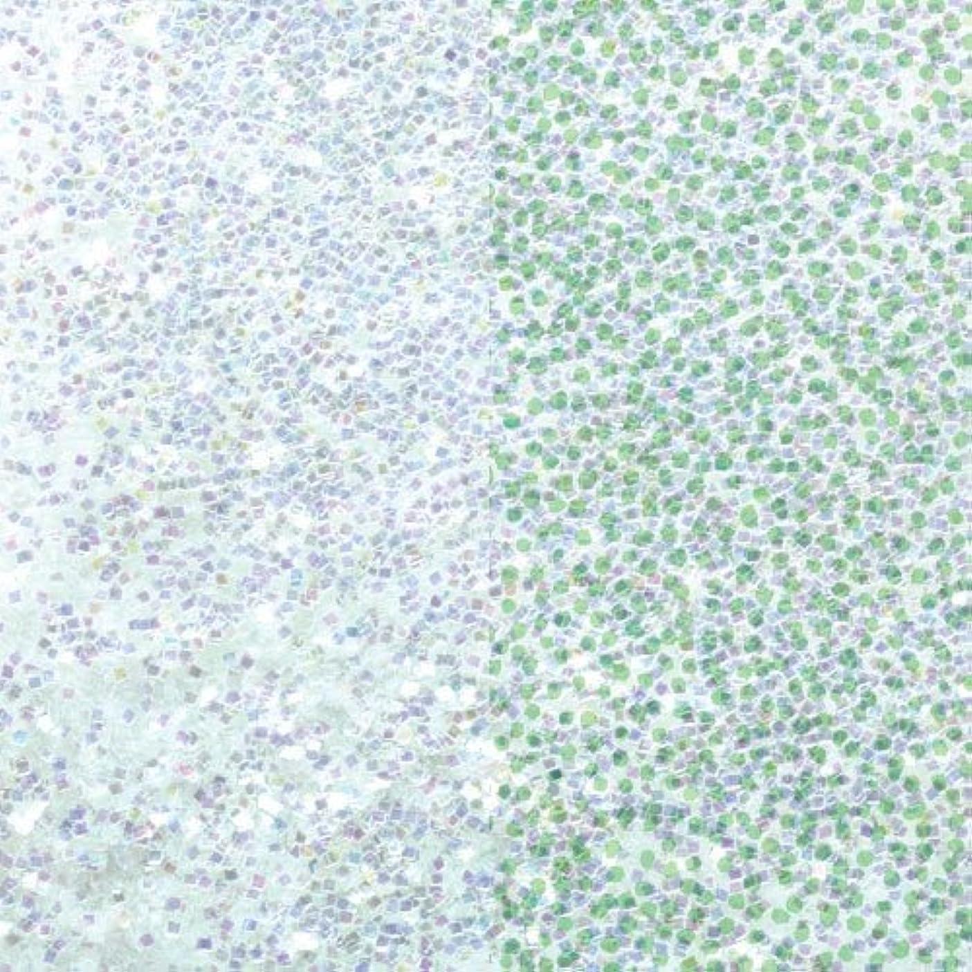 オーディションファンタジーカブピカエース ネイル用パウダー ラメオーロラ 耐溶剤 S #631 Wグリーン 1g