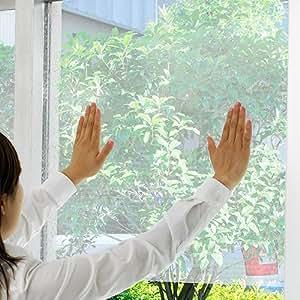 【断熱シート 窓 プチプチ 冷房 暖房 効率アップ 窓用断熱シート】断熱効果 水貼り断熱シート 12枚 無地(X653-4-S1)