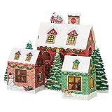 サンリオ クリスマスカード 洋風 ライト&メロディ ツリーの周りにお家3軒  S6341