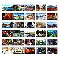 30PCS 1セットクリエイティブポストカード芸術的な美しいポストカード、麗江印象