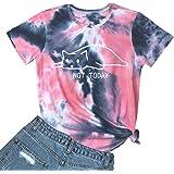 YITAN Women Not Today Cat Cute Graphic Tee Shirts(Gift Ideas)
