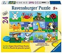 Ravensburger Animal Adventures Super Sized Floorパズル( 24ピース)