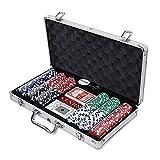 iimono117 アルミケース入り 本格派 ポーカーセット/ チップ300枚入 カジノゲーム