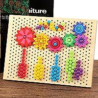 XuBa ボタンマッシュルームピンジグソーパズル イラストボード 子供 ティーザーチェス飛行ゲームのおもちゃ ギフト 296pcs