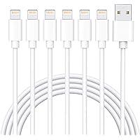 iPhone 充電ケーブル ライトニングケーブル 1M 6本セット アイフォン USB 充電コード Lightning…