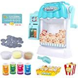 Ainek Toy Popcorn Maker - Hand Cranked Popcorn & Vending Machine Toy, Cinema Movie Night Role Pretend Play, Early Development