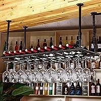 ワインラック 赤ワイングラスホルダーワインラックアイロンハイカップホルダーハンギングカップホルダーバーディスプレイスタンドバーテーブルラック (色 : ブラック, サイズ さいず : 100*35cm)