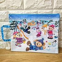 香港 ディズニー ダッフィー メイ ジェラ ルー クッキー クリスマス A4サイズポーチ