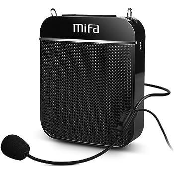 MIFA K8 ポータブル ミニ 拡声器 【ハンズフリー/充電式/音楽再生可能/マイク付き/microSDカード対応/イベント·講演·説明会 】(ブラック)
