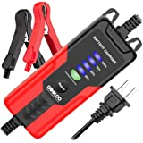GOOLOO 2Amp Smart 12V Battery Charger, Battery Maintainer, Fully-Automatic Battery Desulfator for Motor Boat Truck Lawn Mower