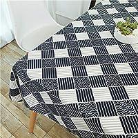 綿麻のテーブルクロスを印刷, 台所テーブルの机のための現代再使用可能な洗濯できるテーブルカバープロテクター-k 100*160cm