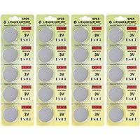 フォーチュンCR 2032 3 Vリチウム電池、おもちゃ、電卓、時計、電球のための電子コイン電池ボタン電池 (20 pcs)