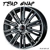 【 14インチ アルミホイール (4本)1台分セット 】 2017年NEWモデル!!TEAD SNAP(テッド スナップ) 14X4.5J 4H-100 +45 * JWL規格適合品 ワンランク上の高品質ドレスアップホイール ● 軽自動車