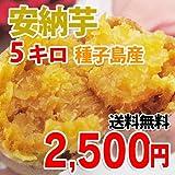種子島産 安納芋 ( サイズ混合 ・ 訳あり品 ) 5キロ 【 九州 野菜 鹿児島 あんのう いも イモ 芋 】