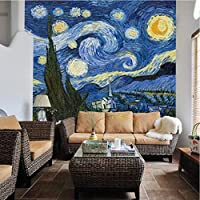 カスタム写真の壁紙古典的な抽象星空油絵3D壁画壁画レストランギャラリーリビングルーム3D風景フレスコ画-220X140CM