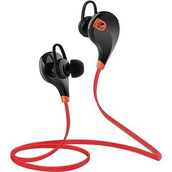 SoundPEATS サウンドピーツ QY7 Bluetooth イヤホン 高音質 低遅延 IPX4防水 IP4X防塵 スポーツイヤホン マイク付き ハンズフリー通話 CVC6.0ノイズキャンセリング 音漏れ防止機能 ブルートゥース イヤホン ワイヤレス イヤホン Bluetooth ヘッドホン【メーカー1年保証】ブラック/レッド