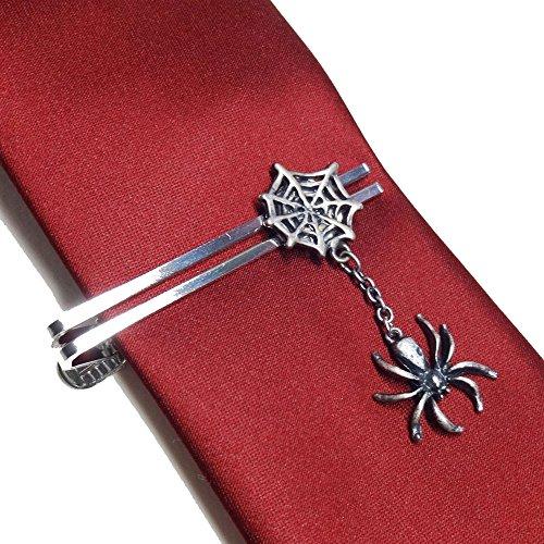 Halloween 蜘蛛の巣 スパイダー ネクタイ ピン ハロウィン