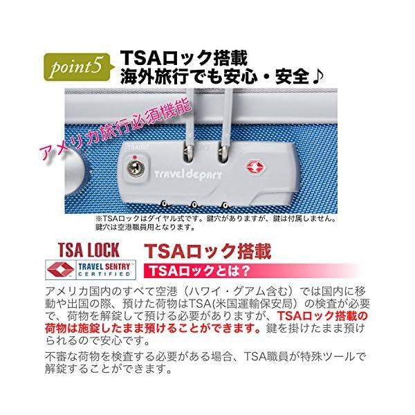 (トラベルデパート) 超軽量スーツケース TS...の紹介画像6