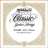 D'Addario ダダリオ NYL039 Rectified Nylon クラシックギター シングルストリング .039 アコースティックギター アコギ ギター (並行輸入)