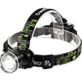 CrazyFire LED Headlamp, Super Bright Headlamp Headlight Flashlight, 3 Modes Zoomable Headlamps for Runing,Hiking,Camping,Fish