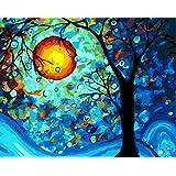 [フレームレス]30x40cm 油絵 数字キットによる絵画 塗り絵 手塗り DIY絵 デジタル油絵 -ゴッホと夢の木 [並行輸入品]