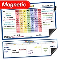 Dry Erase Magnetic Chore Chart - 17 x 11 - Refrigerator Behavior Reward Incentive Magnet - Fridge Responsibility Charts for Kids Chores - Reusable Home Routine Toddler Child Calendar List (Blue) [並行輸入品]