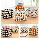 Cotton Linen Home Storage Box Clothes Organizer Folding Office Desk Organizer 5 Colors Makeup Organizer for Cosmetics