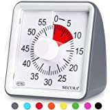 Secura 60-Minute Visual Timer, Classroom Countdown Clock, Silent Timer for Kids and Adults, Time Management Tool for Teaching