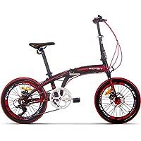RICH BIT TP020 折りたたみ自転車 20インチ +輪行バッグ 7段変速 コンパクト 設計 小径車 女性男性に対応 [メーカー保証1年] 4色