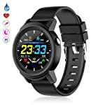 Fitness Tracker with Blood Pressure Monitor, TEEPAO Heart Rate Monitor Smart Watch with Ip67 Waterproof & Removable...