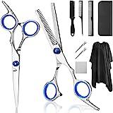 Professional Hair Cutting Scissors, YBLNTEK 9 PCS Barber Thinning Scissors Hairdressing Shears Stainless Steel Hair Cutting S